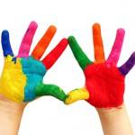 Färg på fingrar