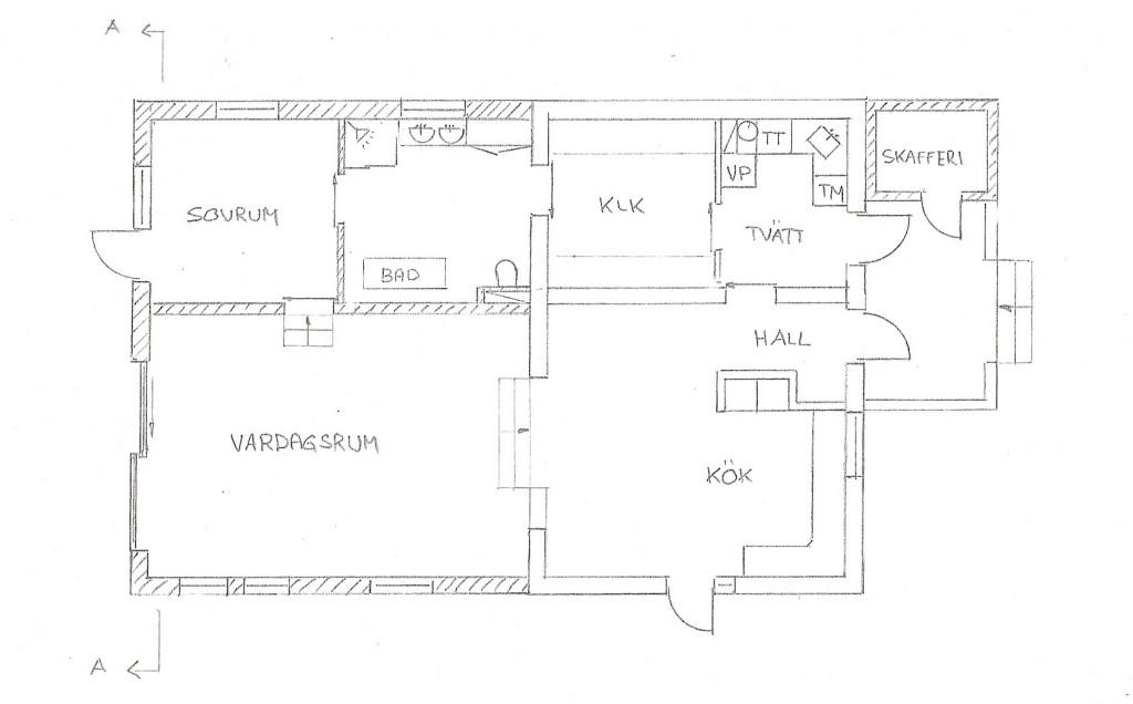 Huset planritning