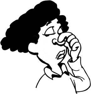 Black_and_White_Woman_Holding_Her_Nose_Royalty_Free_Clipart_Picture_090917-124769-432009
