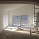 Putsning och målning vardagsrum