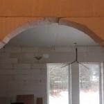Dörröppning mellan v-rum och sovrum