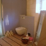 Toalett inkopplad